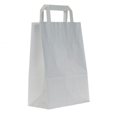 Plain Paper Carrier Bags with Internal Tape Handles